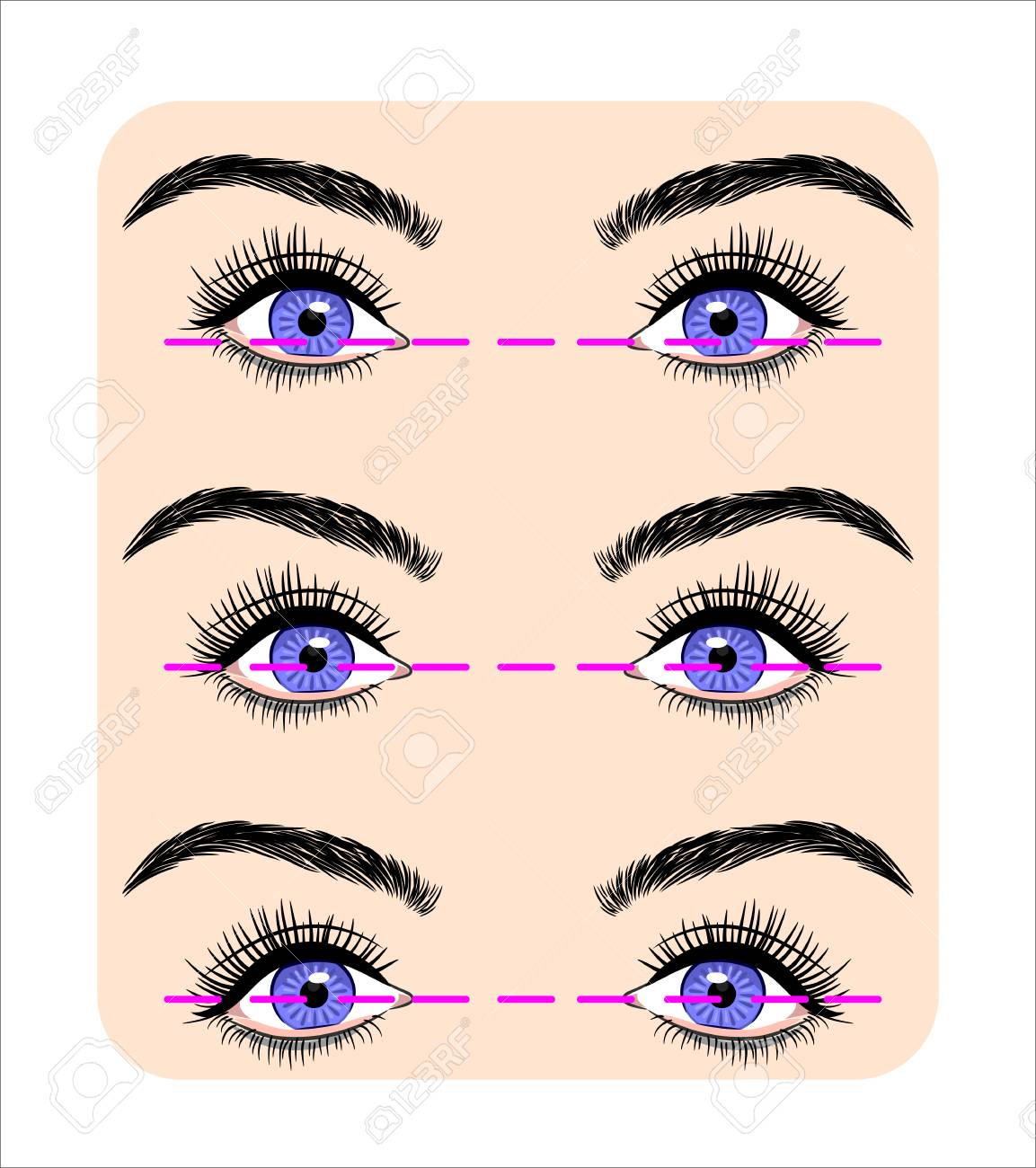 Various forms of human eyes - 126885179
