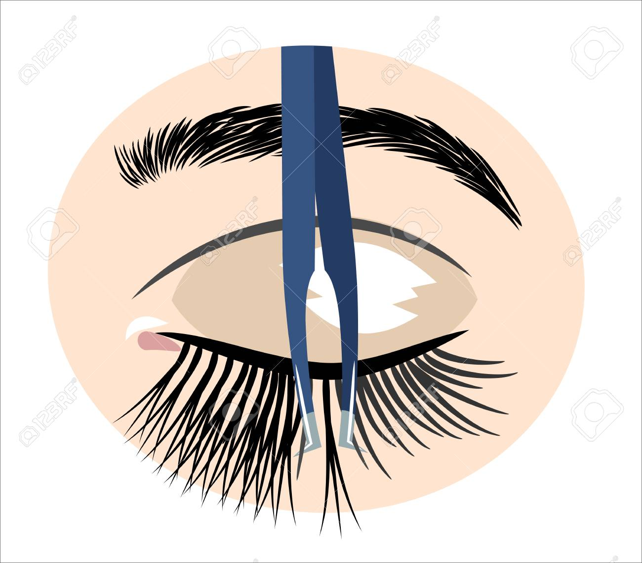 tweezers for artificial eyelashes - 126885182