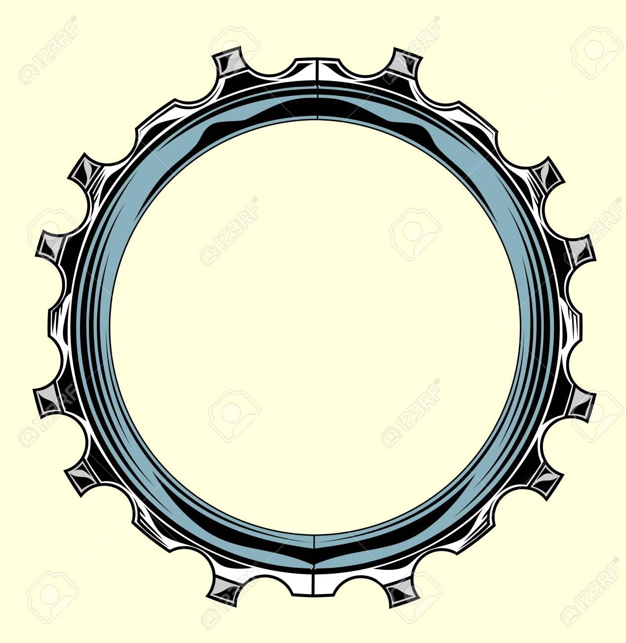 Steel, metal hoop, circle, frame - 130864045