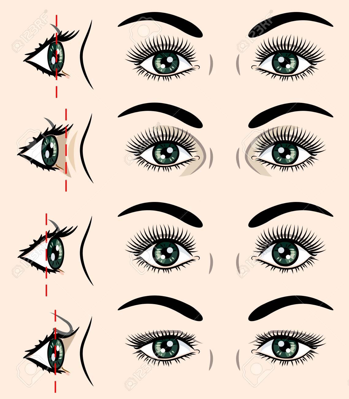 Various forms of human eyes - 130800607