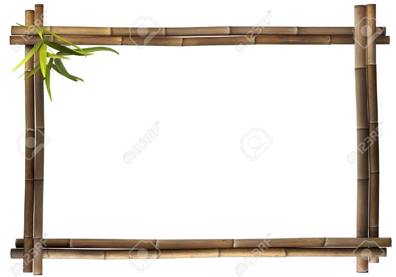 Bamboo frame brown landscape Standard-Bild - 25284539