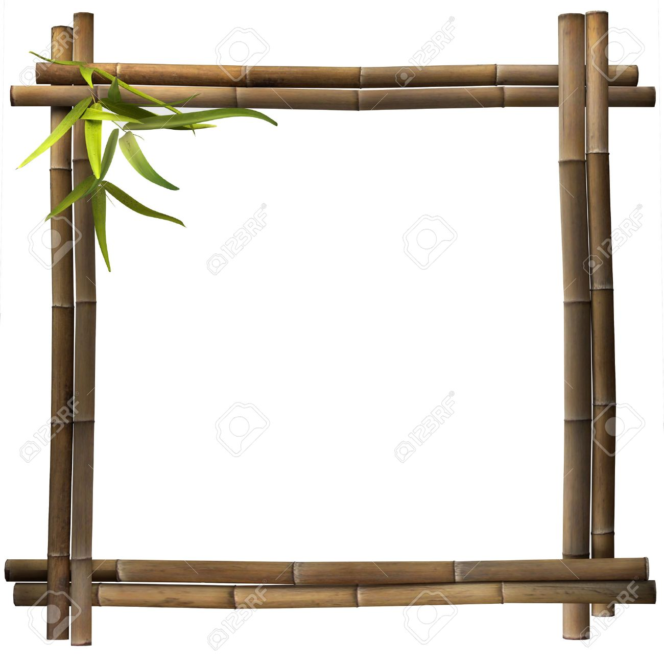 Bamboo Frame Brown Square Stock Photo, Picture And Royalty Free ...