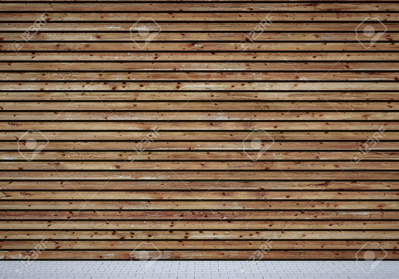 Wall with shabby wooden planks Standard-Bild - 26047074
