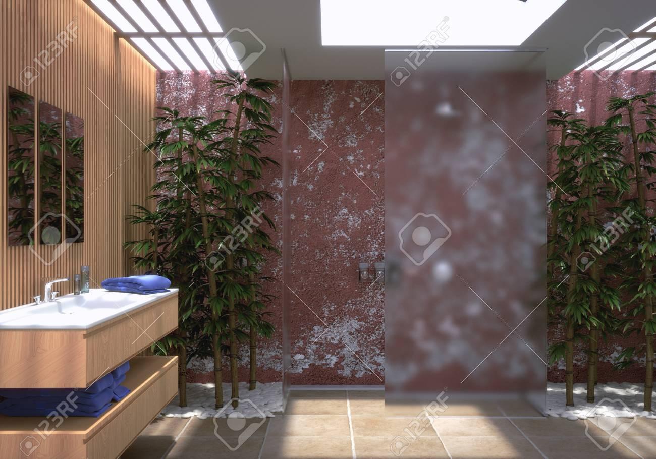 Moderne Badezimmer Standard-Bild - 29945607