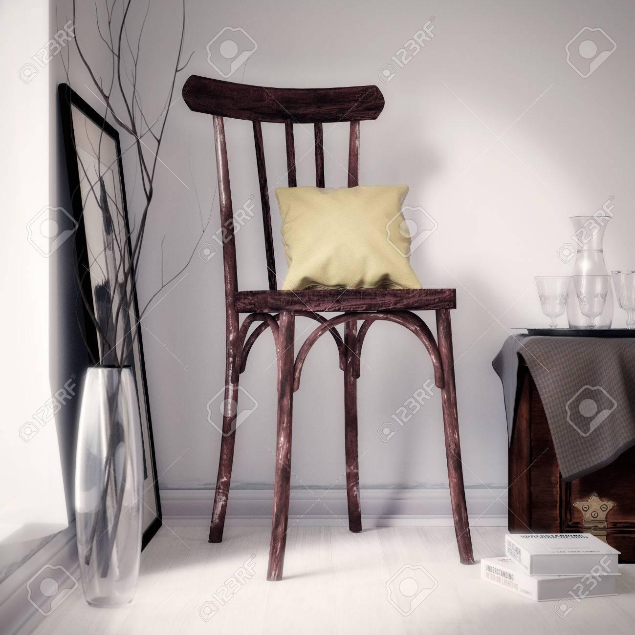 Alte braune Stuhl Standard-Bild - 29945626