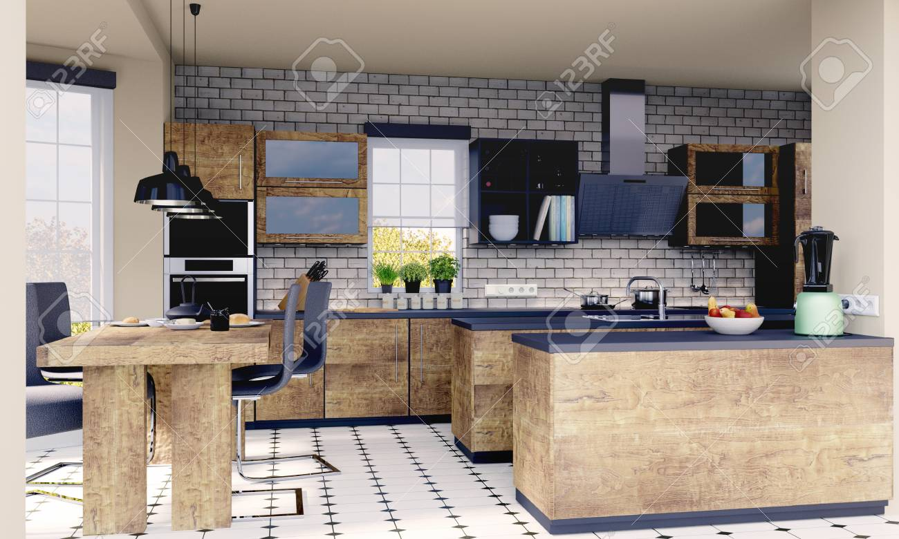 Planning of a kitchen with 3D - 113193476