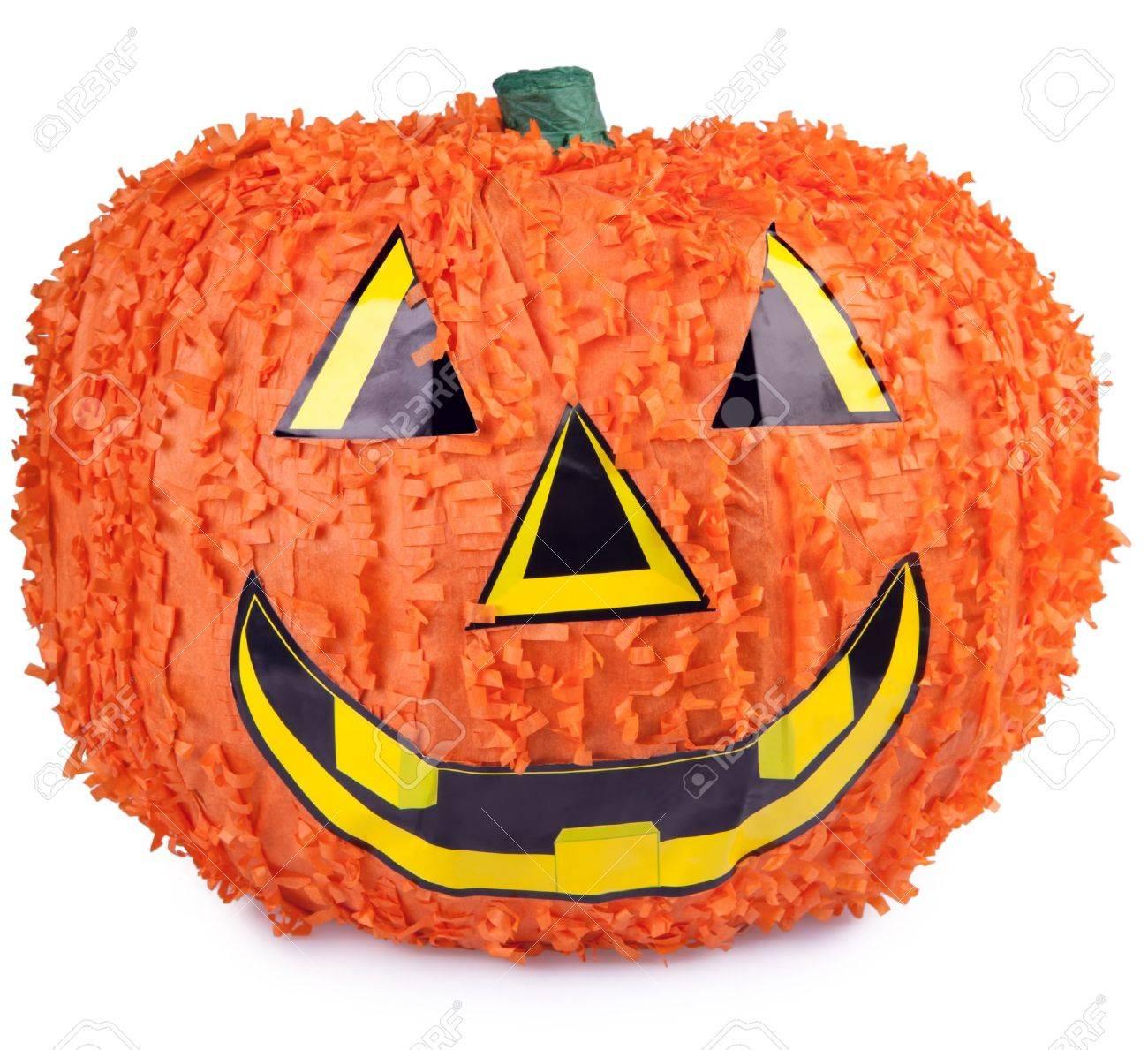Calabaza De Halloween Hechas De Papel Mache Fotos Retratos - Calabaza-de-papel