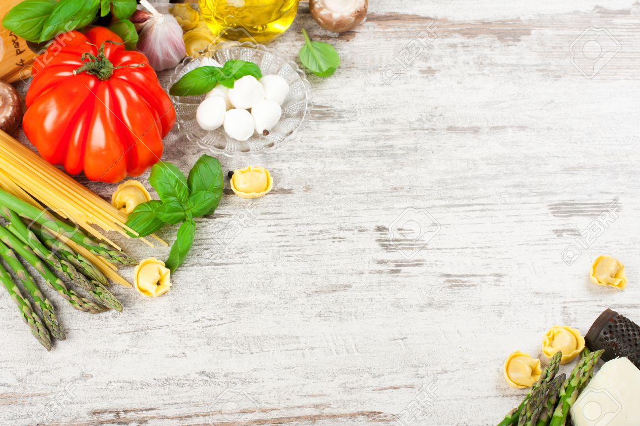 Food Background italian food background stock photo, picture and royalty free