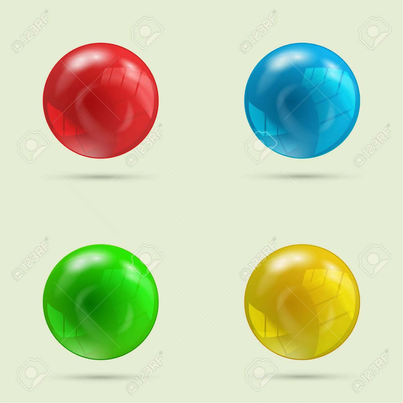 Pelotas de diferentes colores
