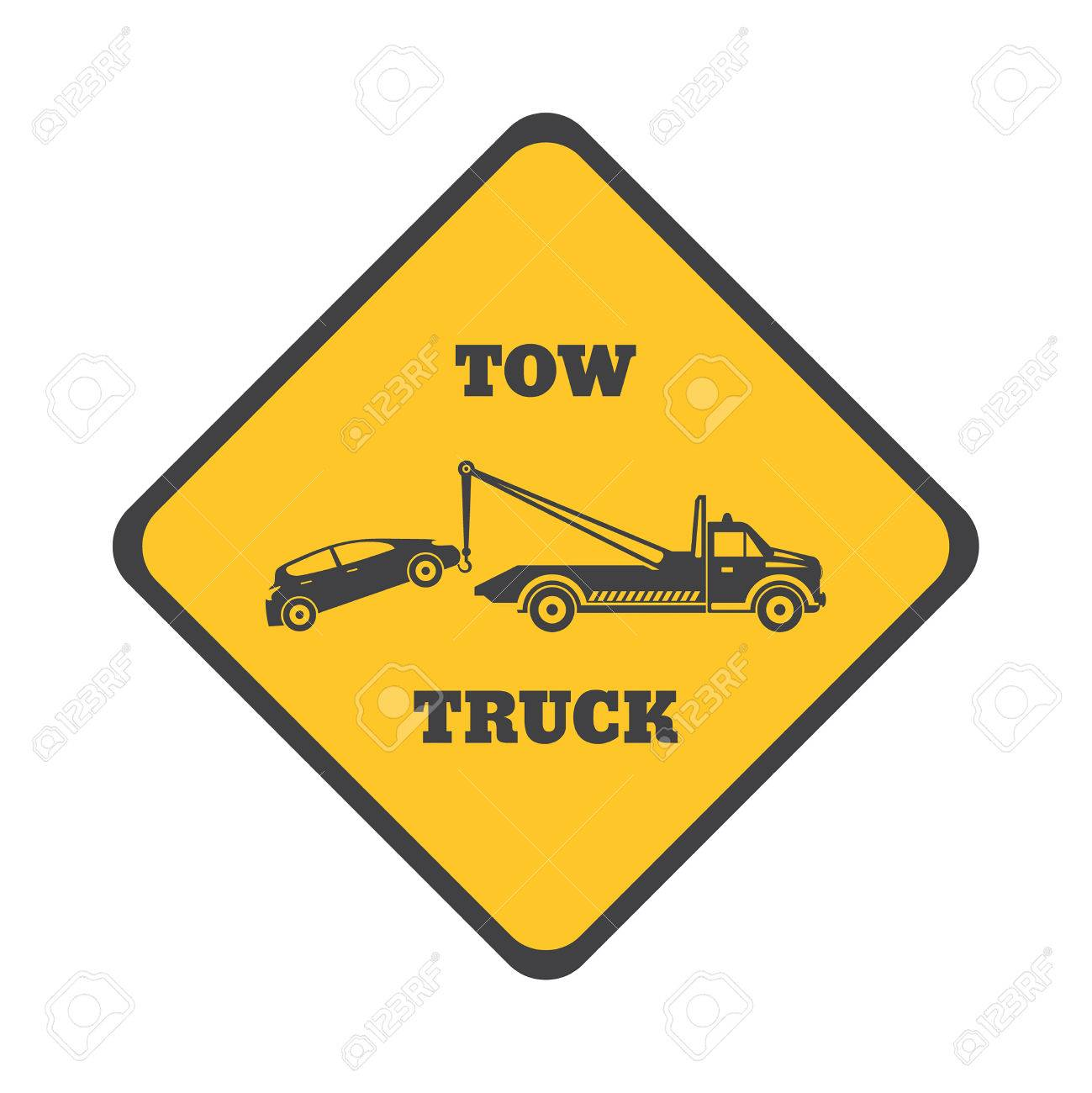 tow truck icon on a white background round the clock evacuation