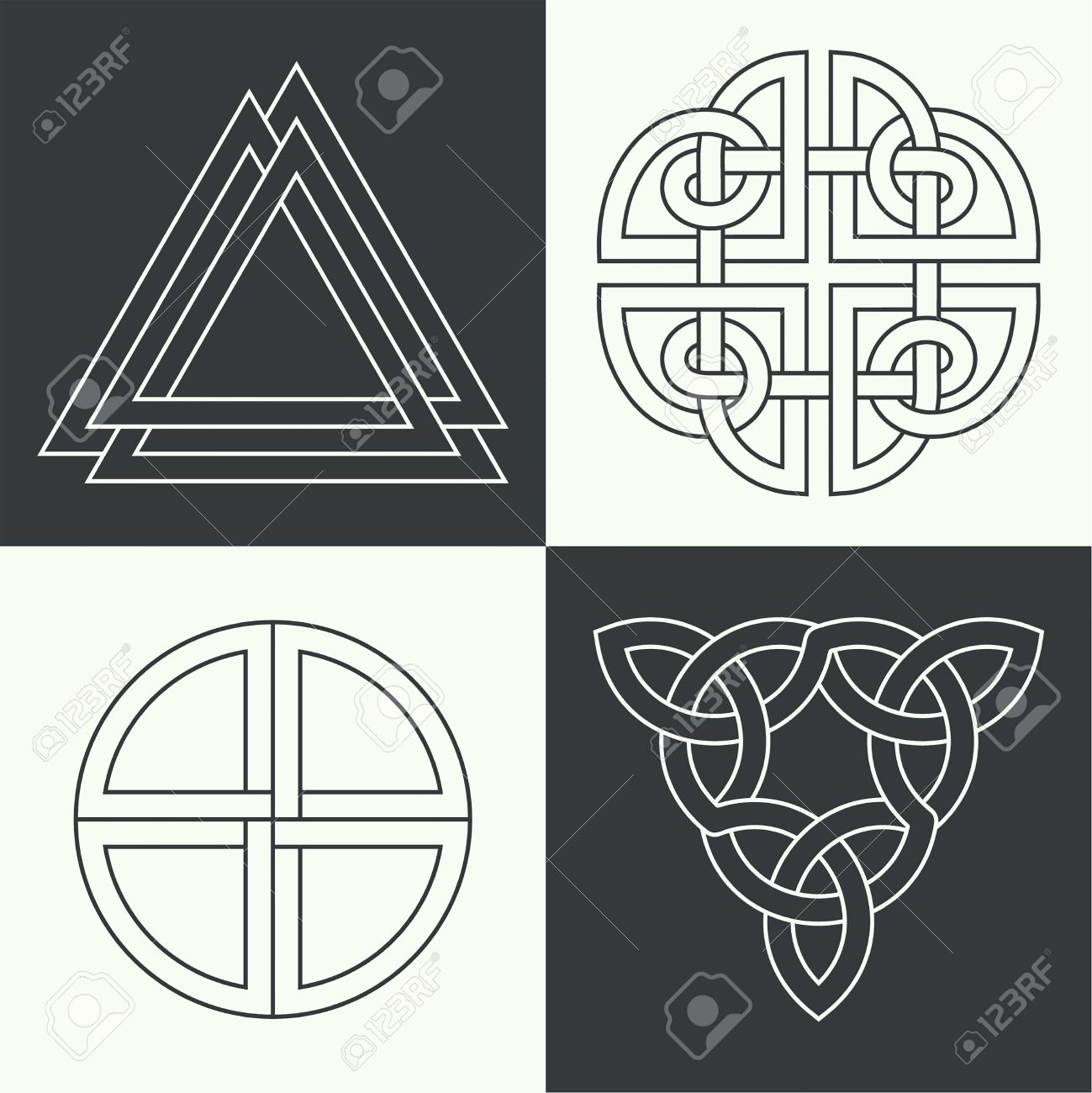 Set of the ancient symbols executed in linear style celtic signs set of the ancient symbols executed in linear style celtic signs knots and interlacings buycottarizona