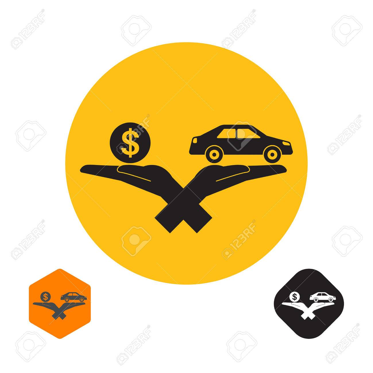 Icon with the crossed hands holding the car and a symbol of a icon with the crossed hands holding the car and a symbol of a coin dollar biocorpaavc Choice Image