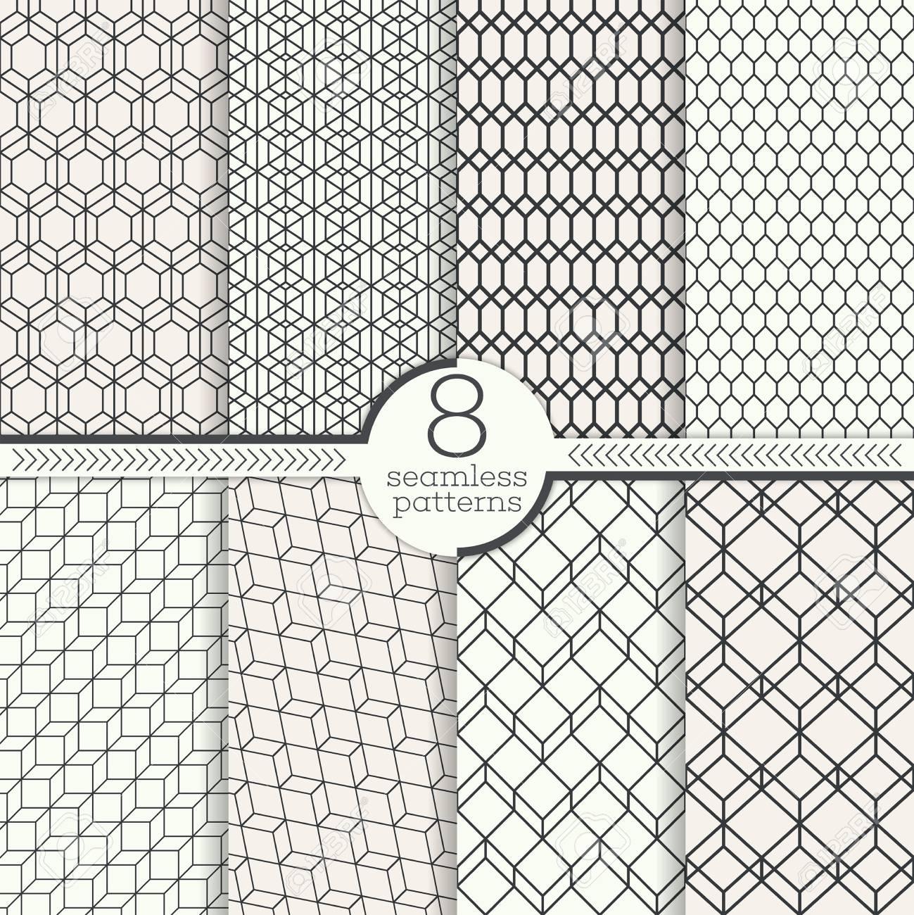 Conjunto De Ocho Patrones De Costura. Texturas De Estilo Moderno ...