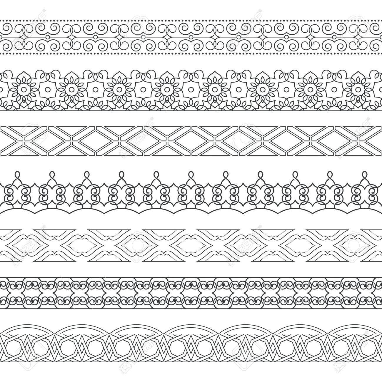 Vector Conjunto De Divisores Monocromáticos. Bordes Para El Texto ...