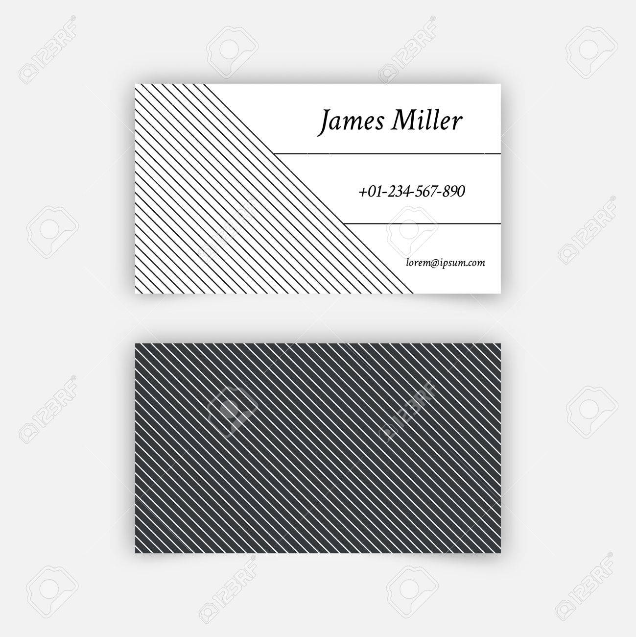 Business card blank template with textured background from thin business card blank template with textured background from thin diagonal lines minimal elegant vector design accmission Gallery