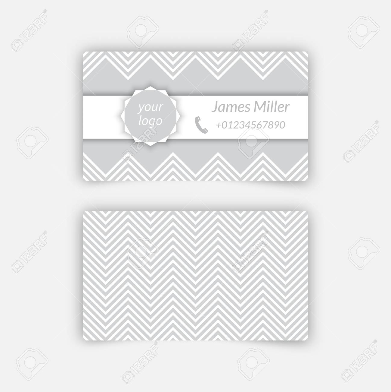 Business card blank template with textured background from zigzag business card blank template with textured background from zigzag strips minimal elegant vector design stock accmission Choice Image