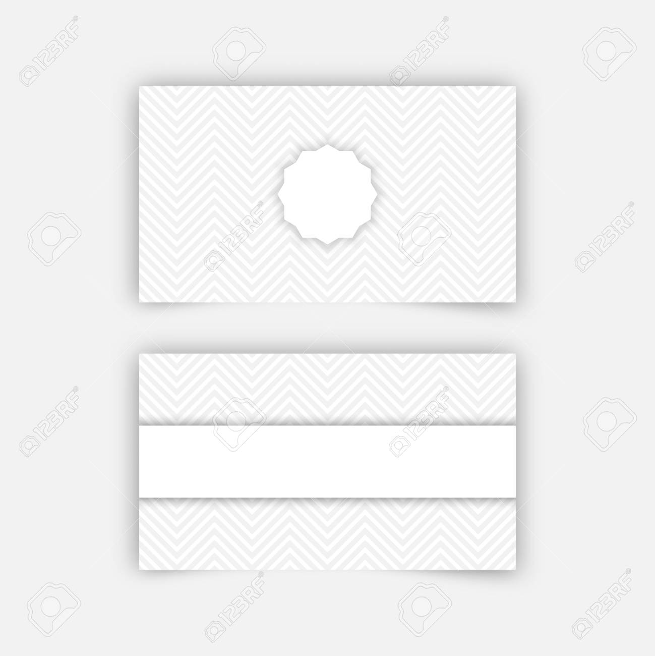 Business card blank template with textured background from zigzag business card blank template with textured background from zigzag strips minimal elegant vector design stock flashek Gallery