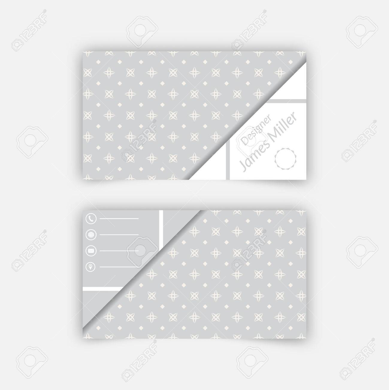 Business card blank template with textured background from stars business card blank template with textured background from stars rhombuses and triangle shape minimal reheart Images