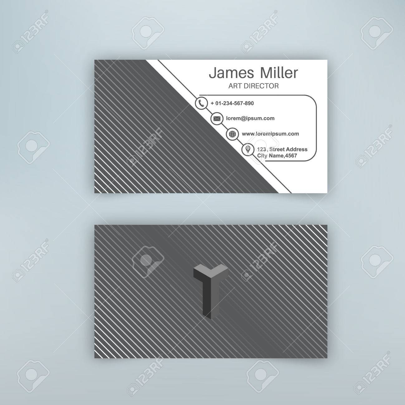 Business card blank template with textured background from thin business card blank template with textured background from thin diagonal lines minimal elegant vector design flashek Gallery