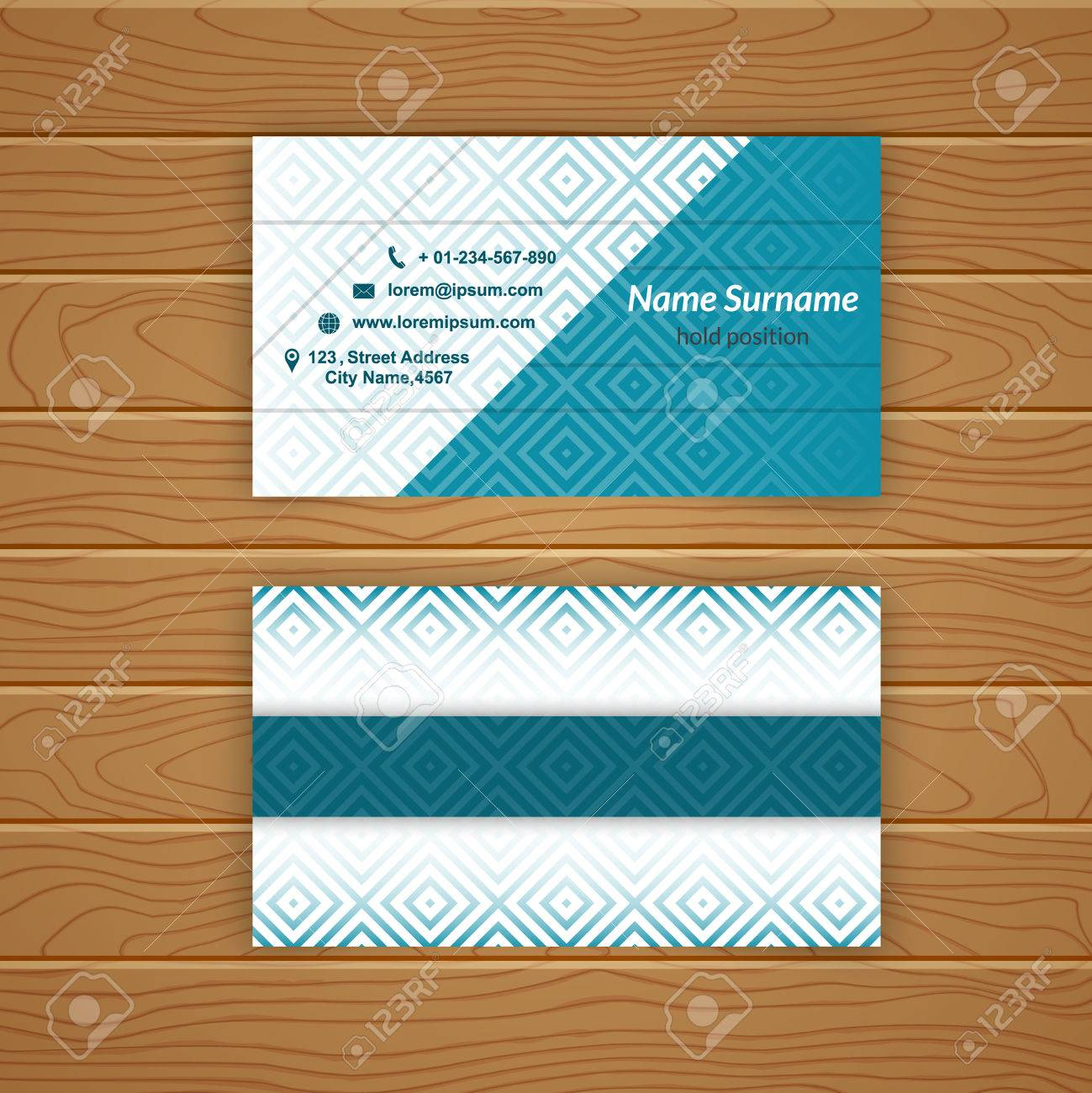 Business card blank template with textured background from rhombus business card blank template with textured background from rhombus tiles minimal elegant vector design stock flashek Gallery