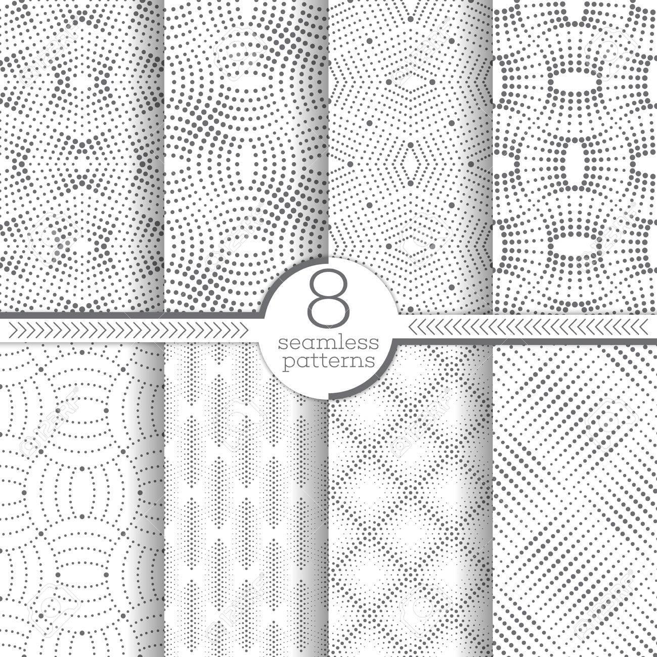 Conjunto De Patrones Diferentes, Texturas Geométricas Modernas Con ...