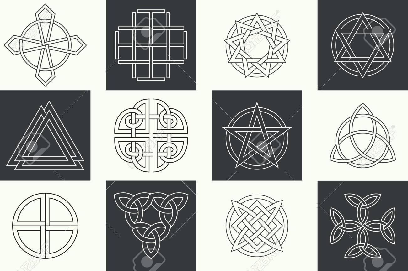 Set of ancient symbols executed in linear celtic style secret set of ancient symbols executed in linear celtic style secret signs knots interlacings buycottarizona