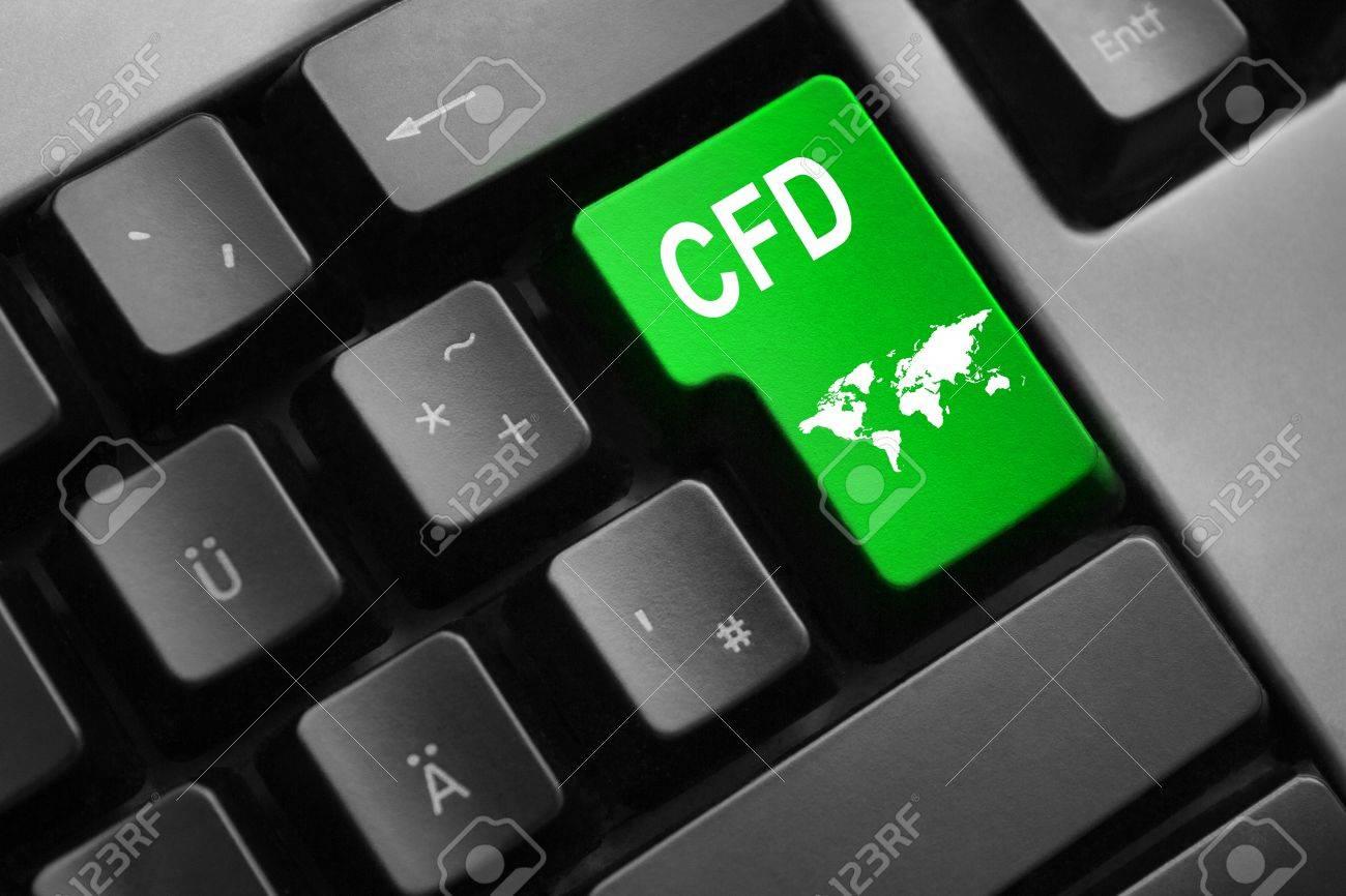 grey keyboard with green enter key cfd international trading - 46068400