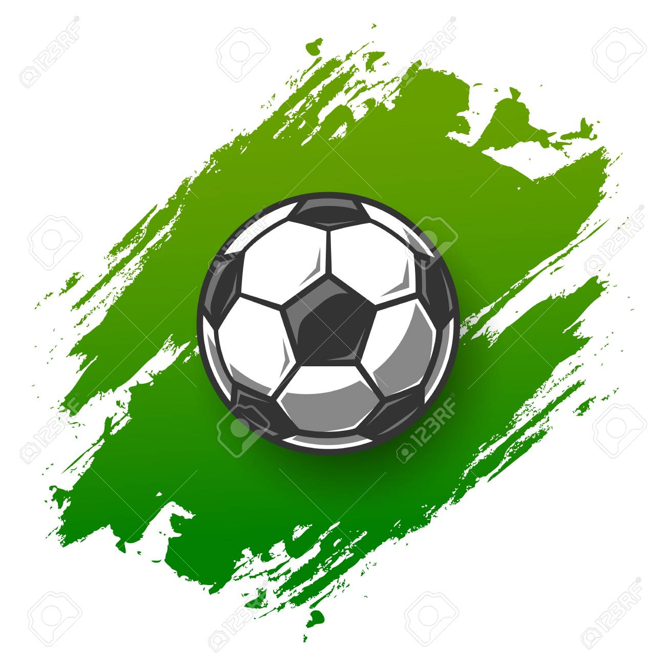 Soccer grunge background with ball. Vector illustration - 100120151