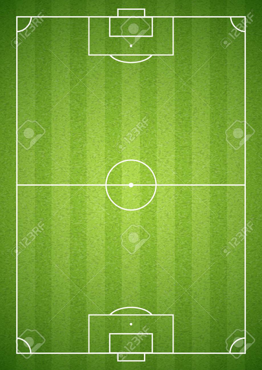 Soccer green field empty with grass texture. Vector illustration. - 100120156