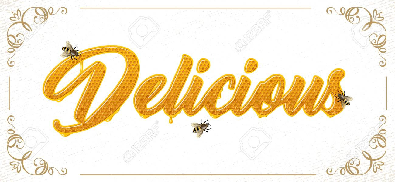 lettering with honeycomb patten - 106926742