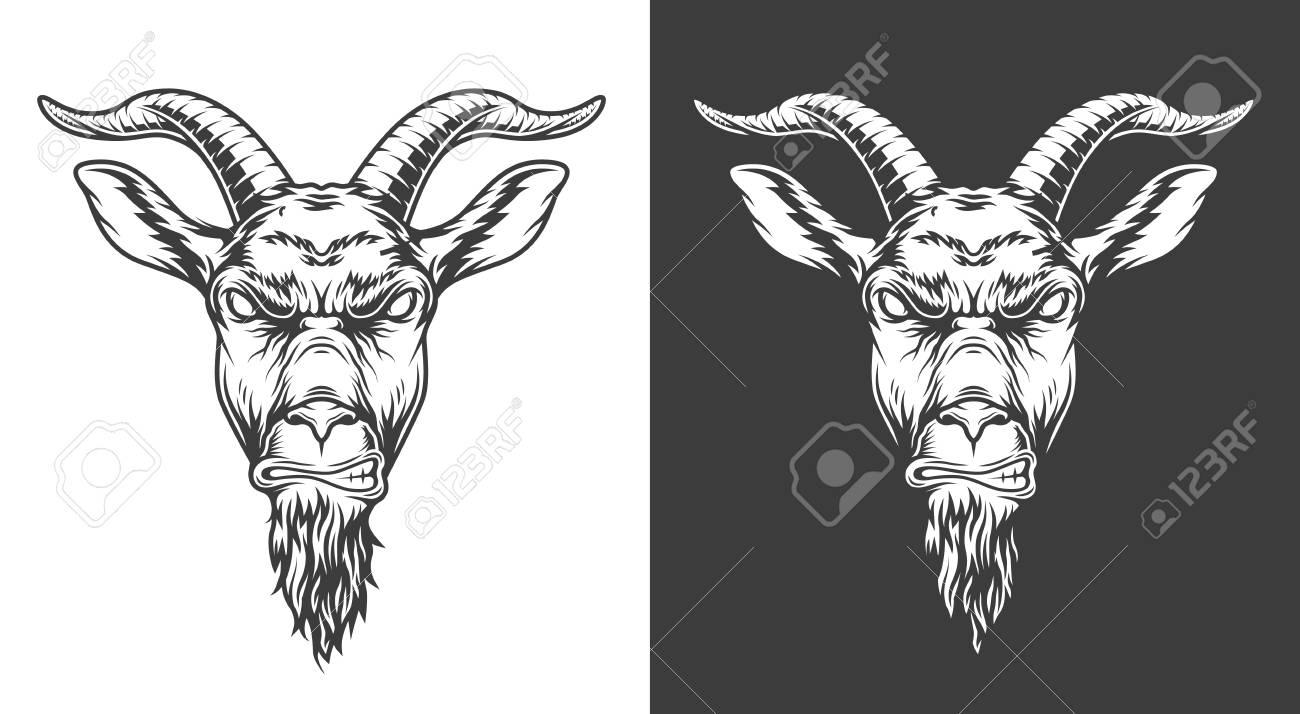 Monochrome goat icon - 106926827
