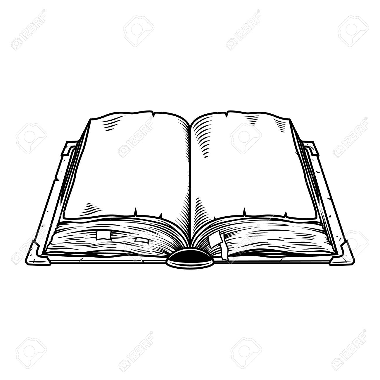Old vintage book isolated on white. Vector illustration - 107001113