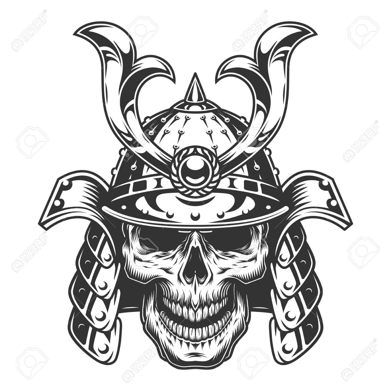 Skull In Samurai Helmet Royalty Free Cliparts Vectors And Stock Illustration Image 108111608