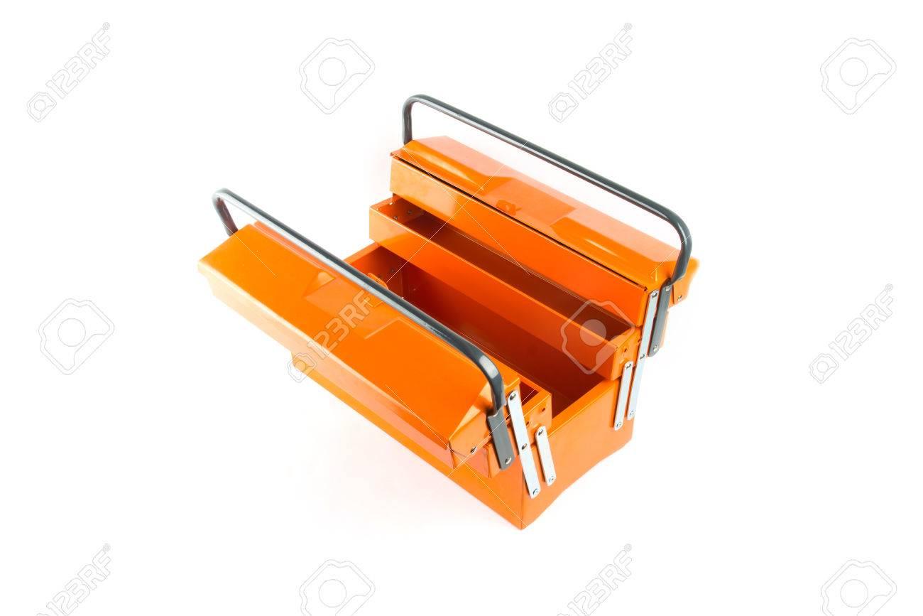 Orange tool box isolated on white background - 32320529