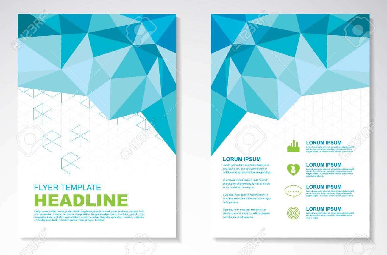 Vector Brochure Flyer design Layout template, geometric - 38719030