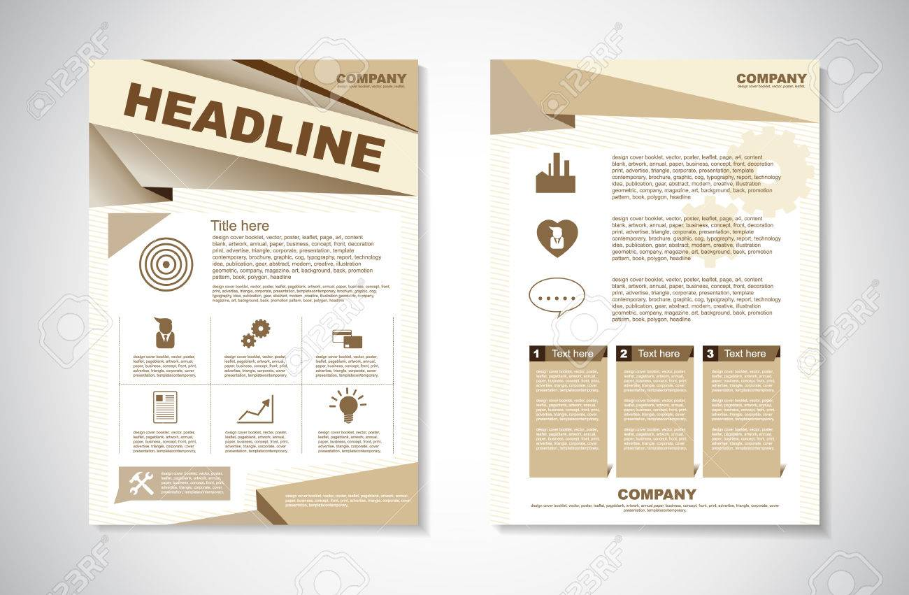 Vector Brochure Flyer design Layout template in A4 size - 38719031