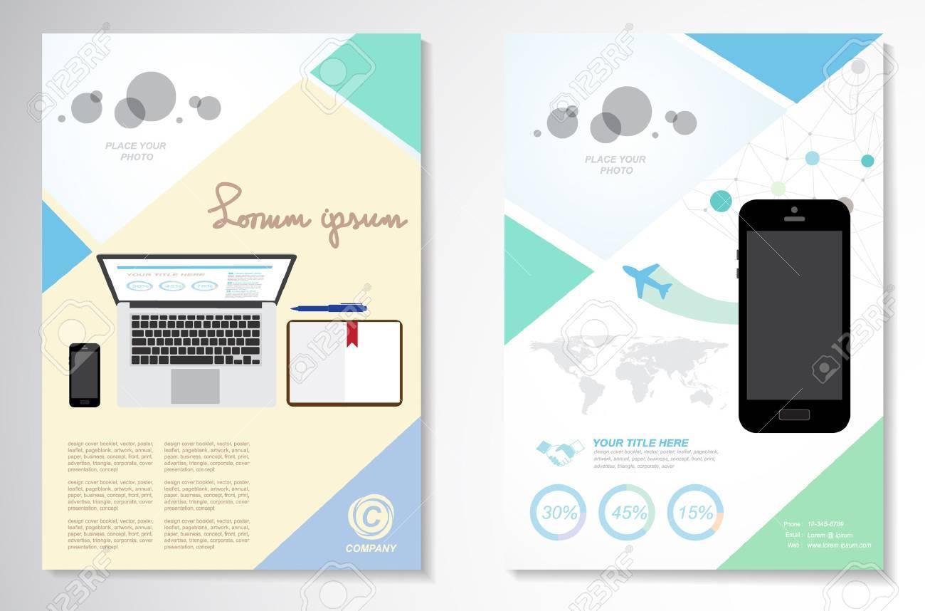 Vector Brochure Flyer design Layout template, infographics pastel design - 42554370