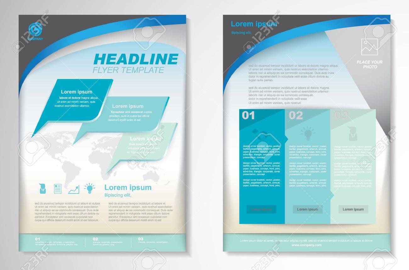 Vector Brochure Flyer design Layout template.infographic - 45067398