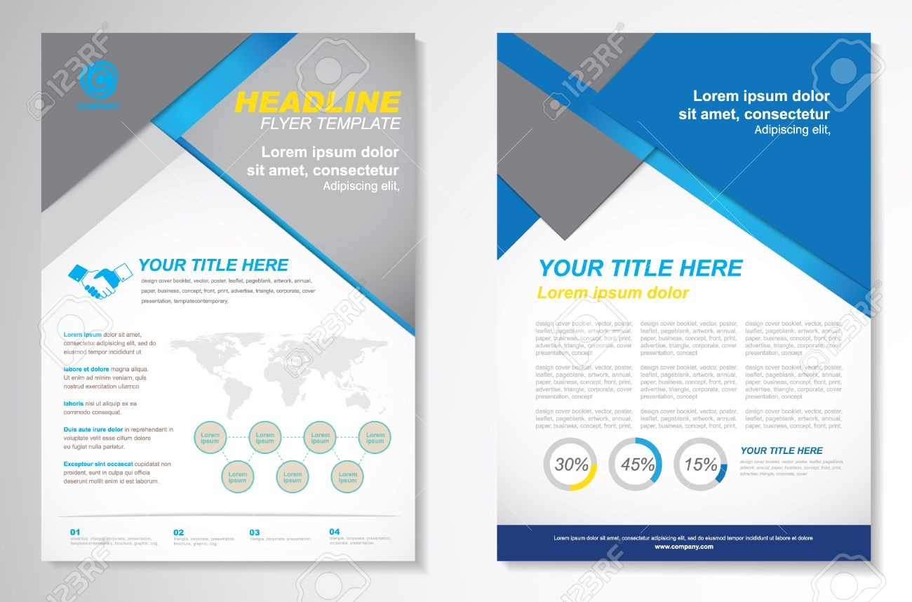Vector Brochure Flyer Design Layout Template.infographic Royalty ...