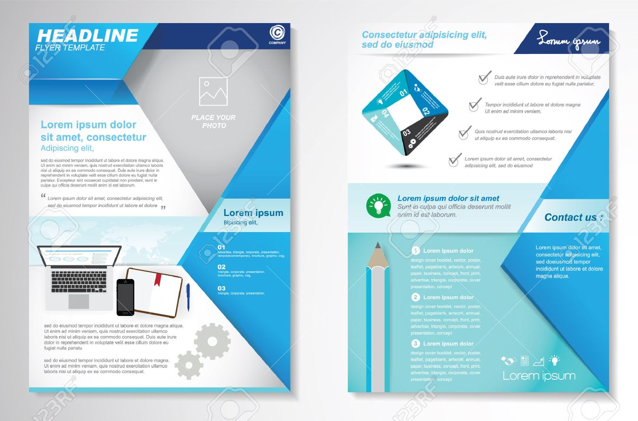 Vector Brochure Flyer Design Layout Template Size A Front - Easy brochure template