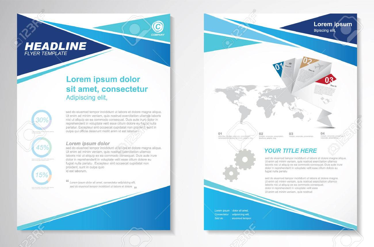 vector brochure flyer design layout template size a front vector vector brochure flyer design layout template size a4 front page and back page infographics easy to use and edit