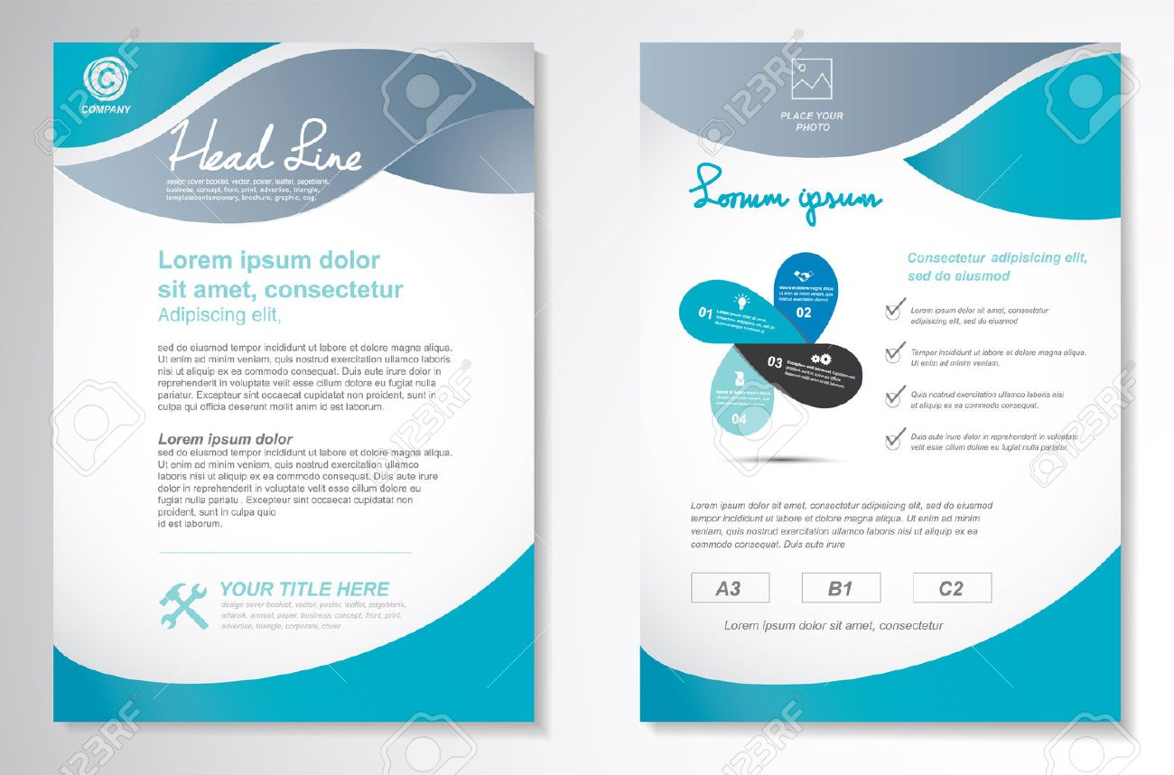 Vector Brochure Flyer Design Layout Template, Size A4, Front ...