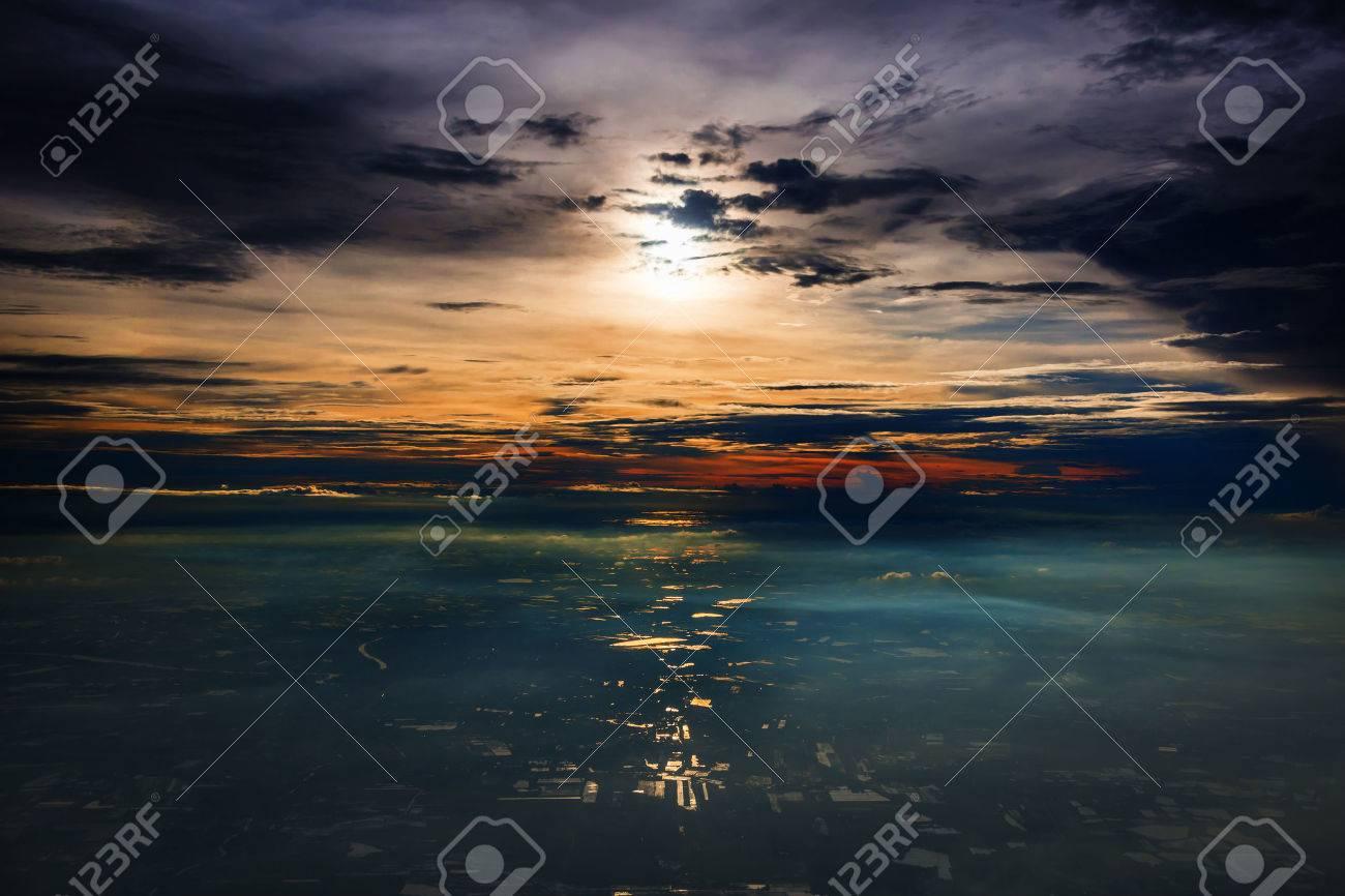 beautiful view skyline at sunset - 56475830