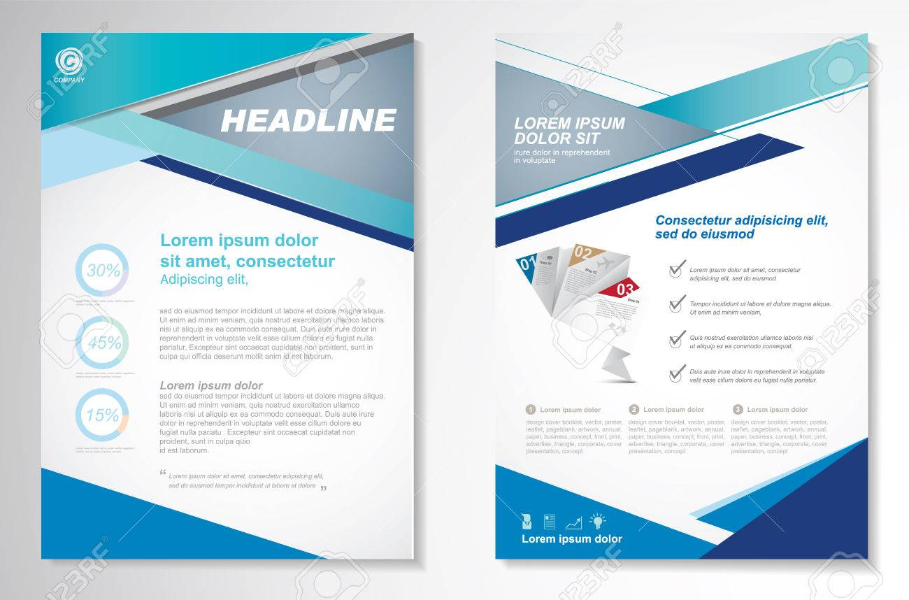2 Page Brochure >> Vector Brochure Flyer Design Layout Template Size A4 Front