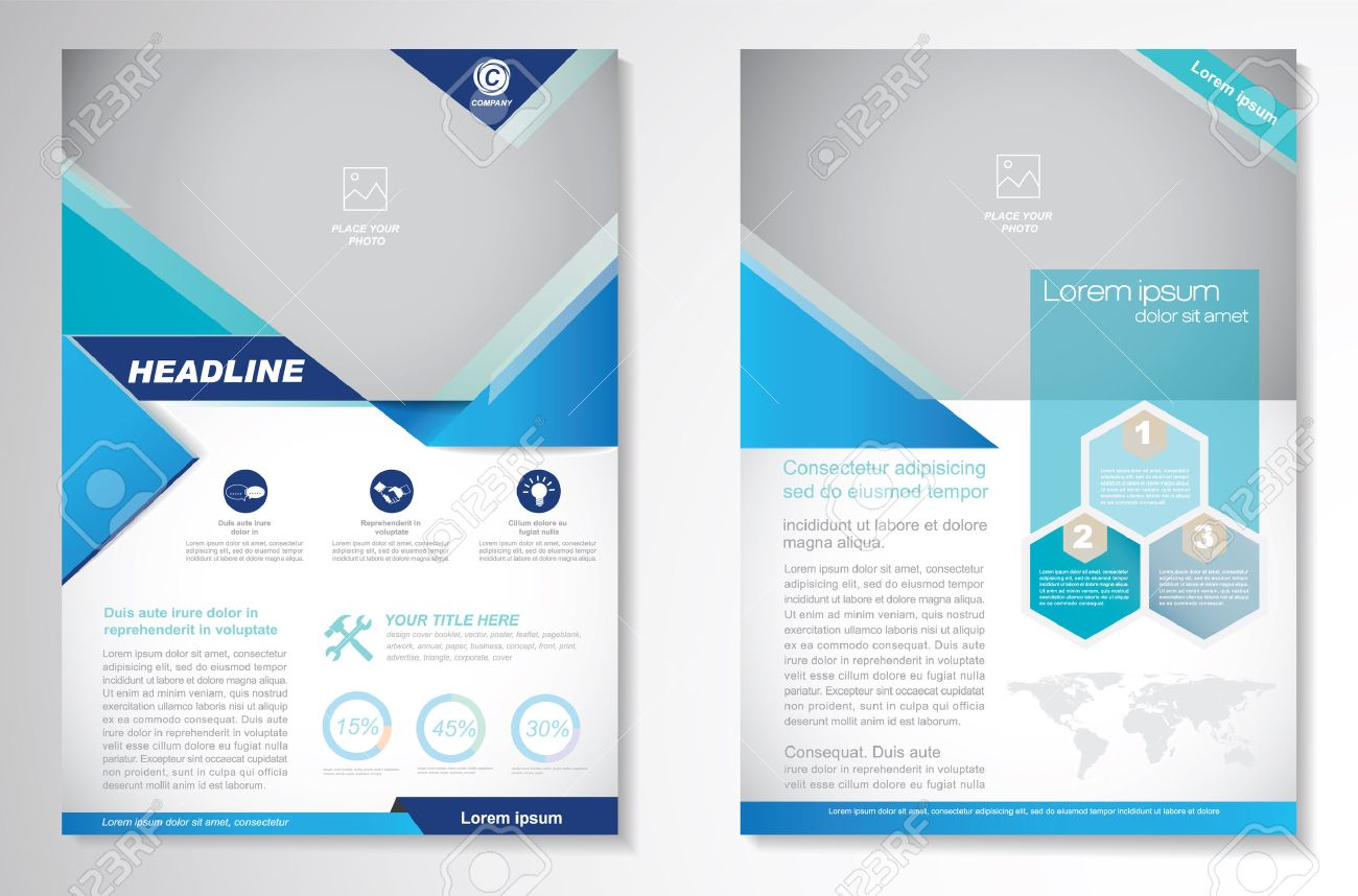 Brochure Design Layout Template, Size A4, Front Page And Back ...