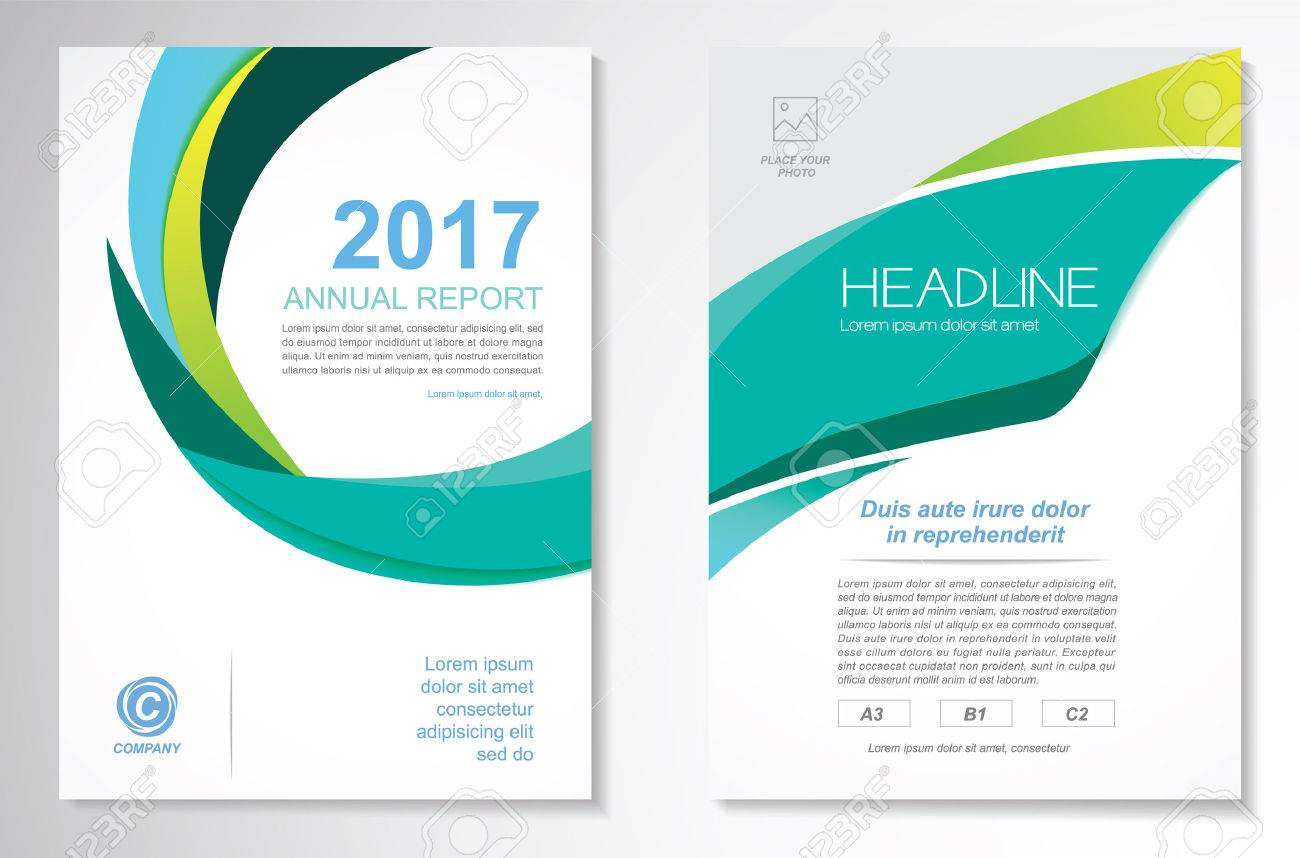 Vector Brochure Flyer design Layout template, size A4, Front page and back page, infographics. Easy to use and edit. - 70037074