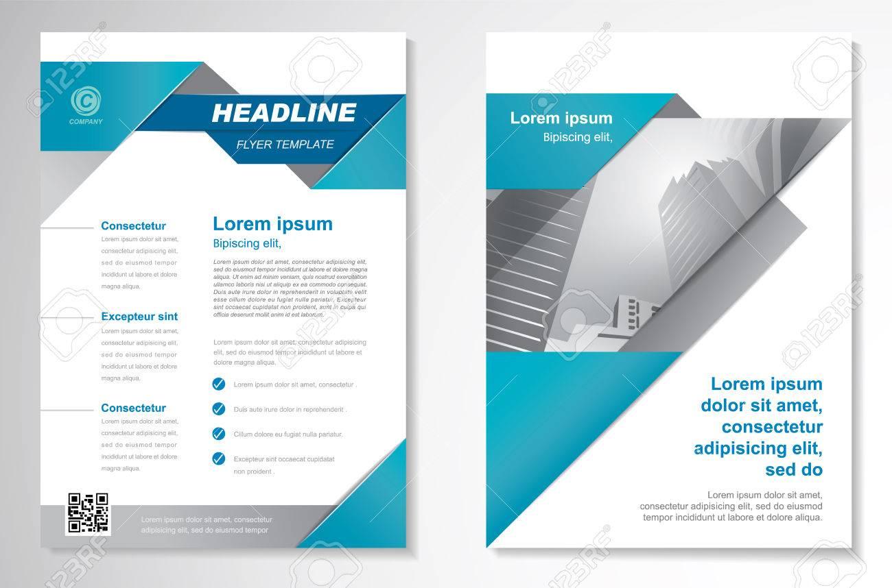 Vector Brochure Flyer Design Modèle De Mise En Page Format A4 Rapport Annuel De Couverture Dessin De Triangles Page De Garde Et Dernière Page De