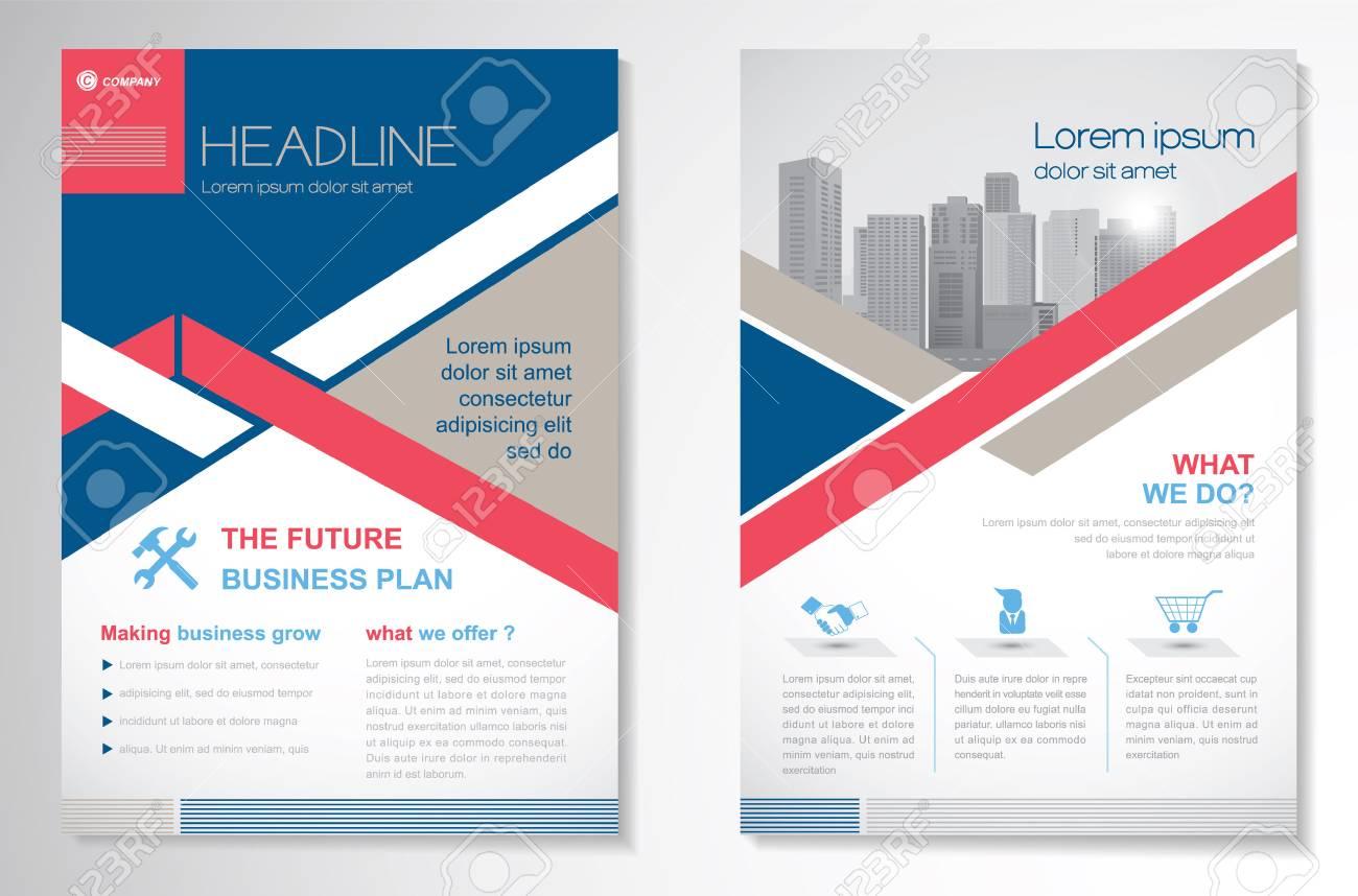 Template vector design for Brochure, Annual Report, Magazine, Poster, Corporate Presentation, Portfolio, Flyer. - 73711204