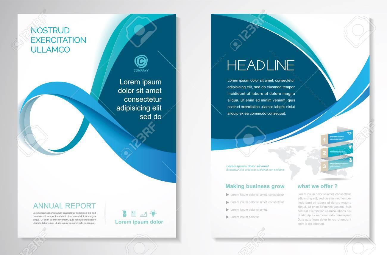 standard bild vorlage vektor design fr broschre jahresbericht magazin poster firmenprsentation portfolio flyer layout modern mit blauer farbe - Firmenprasentation Muster