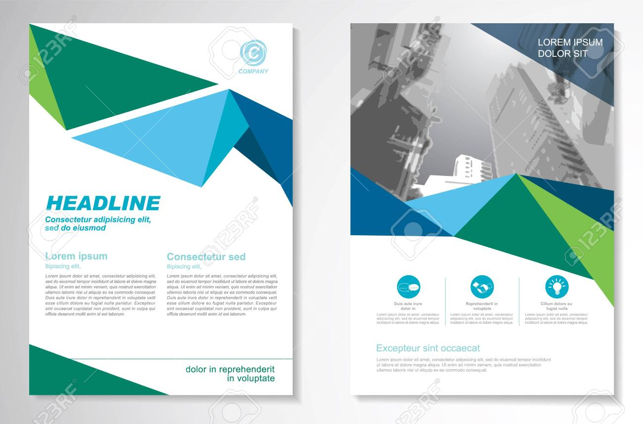 Vector Brochure Flyer design Layout template, size A4, Front page and back page, infographics. Easy to use and edit. - 138169744